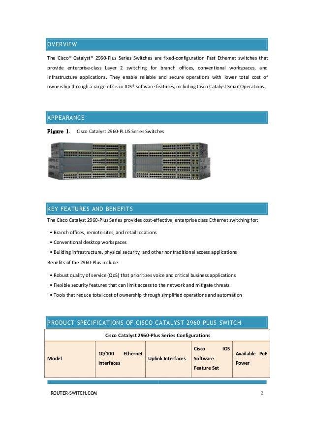 Cisco catalyst 2960-plus 48tc-l switch cisco.