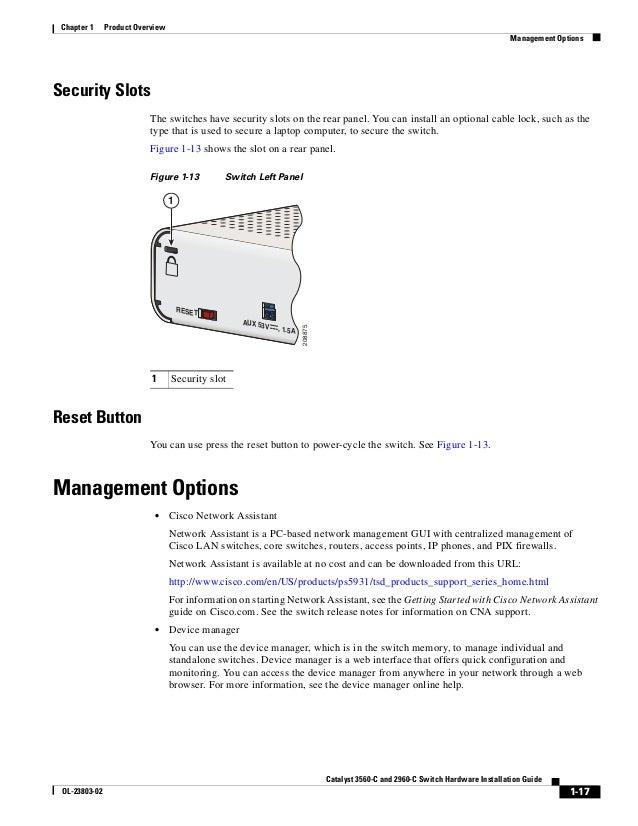 Cisco catalyst 3560 maintenance manual