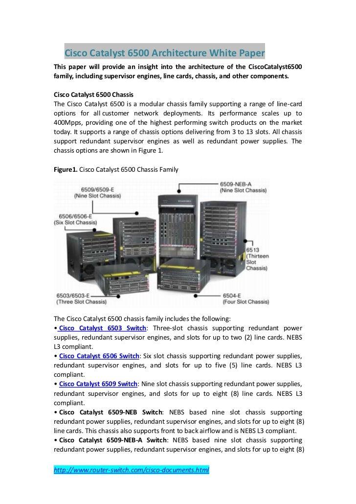 Cisco catalyst 6500 architecture white paper