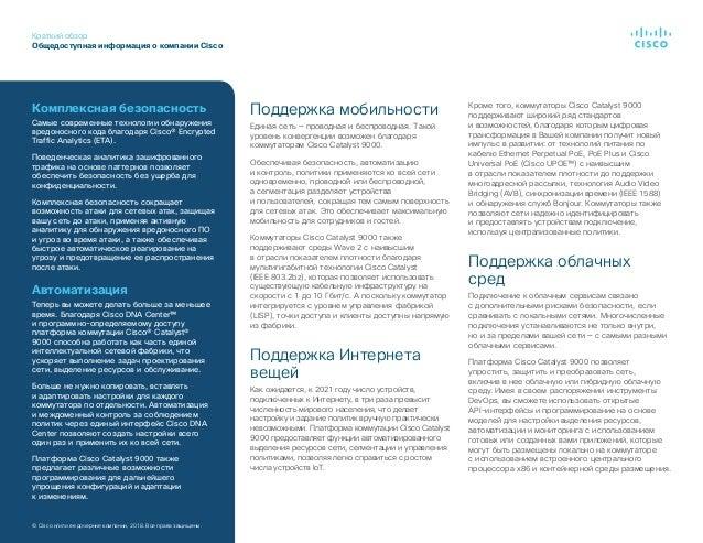 Краткий обзор Общедоступная информация окомпании Cisco ©Cisco и/или ее дочерние компании, 2018. Все права защищены. Подд...