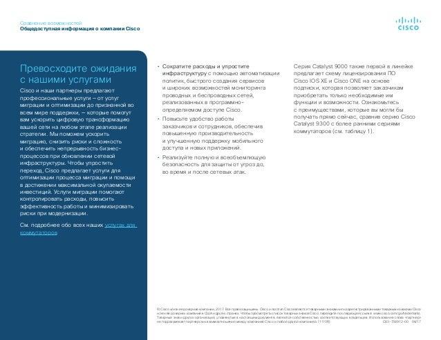 Сравнение возможностей Общедоступная информация окомпании Cisco ©Cisco и/или ее дочерние компании, 2017. Все права защищ...