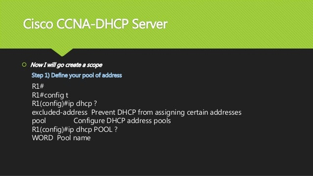 Cisco ccna dhcp server for Show pool cisco