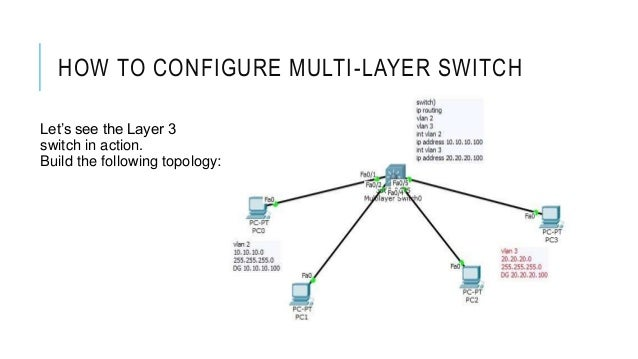 Cisco CCNA- How to Configure Multi-Layer Switch