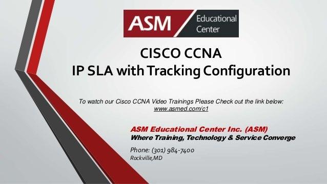 Cisco CCNA IP SLA with tracking configuration