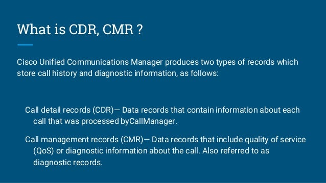 Cisco cdr reporting it's easy if you do it smart