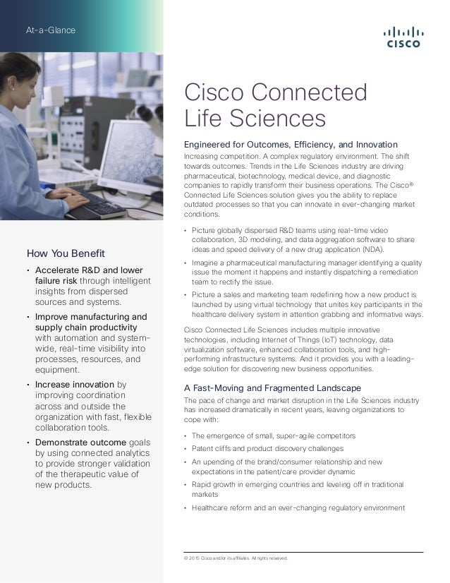 Cisco Life Sciences AAG: Bring Products to Market Faster