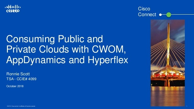 © 2016 Cisco and/or its affiliates. All rights reserved. 1 Consuming Public and Private Clouds with CWOM, AppDynamics and ...