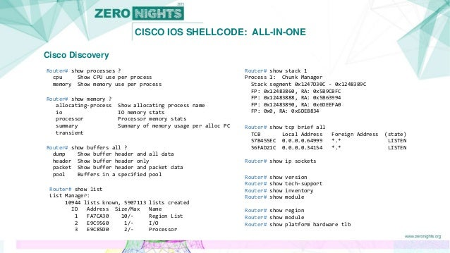 Cisco IOS shellcode: All-in-one