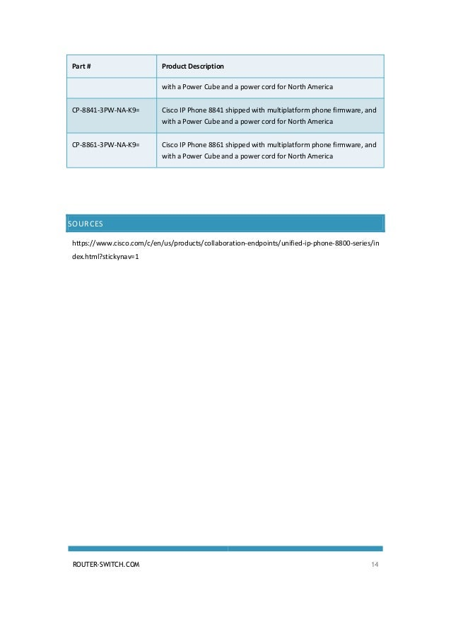 Cisco ip phone 8800 series datasheet