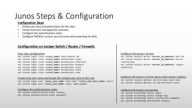 Cisco ise jun os and ios xr - tacacs+ integration
