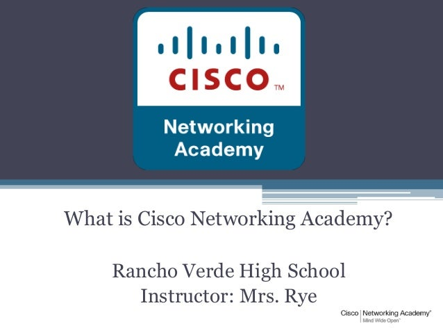 What IS Cisco Networking Academy?