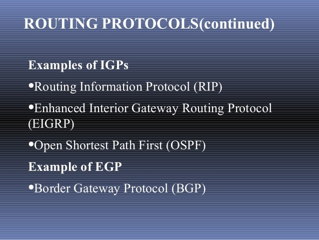 Networking fundamentals for Exterior gateway protocol examples