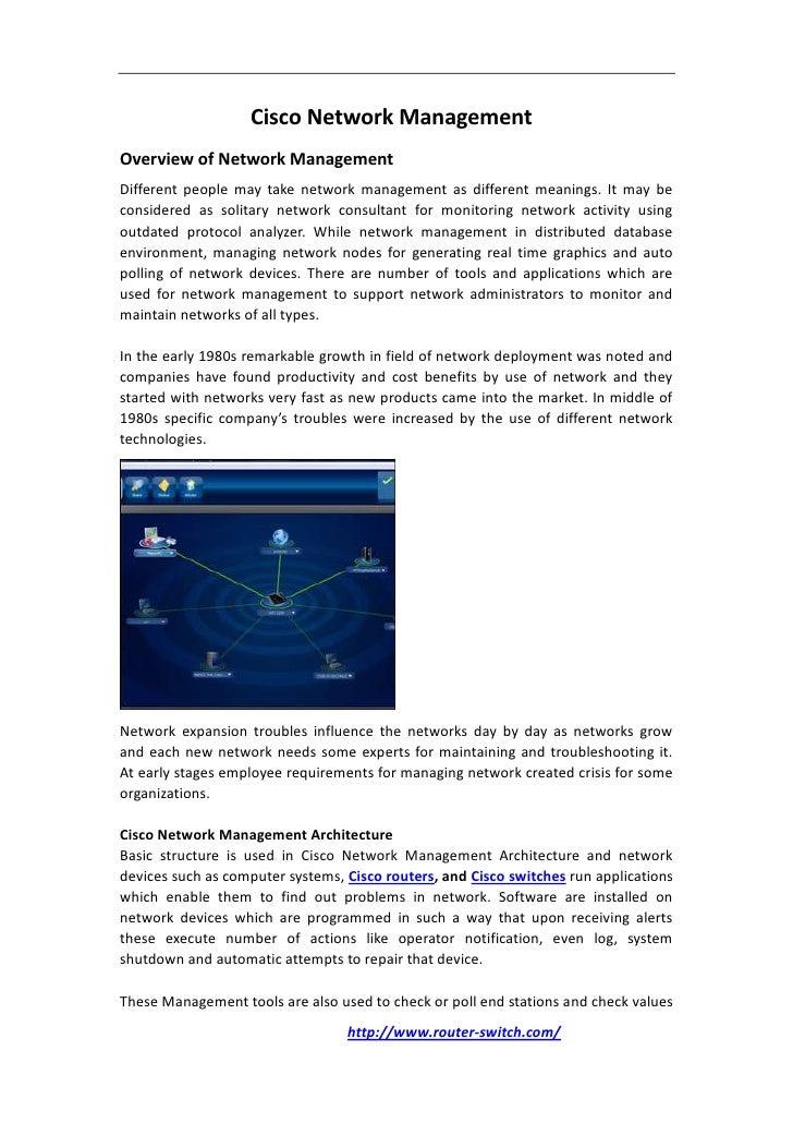 Cisco Network Monitoring : Cisco network management