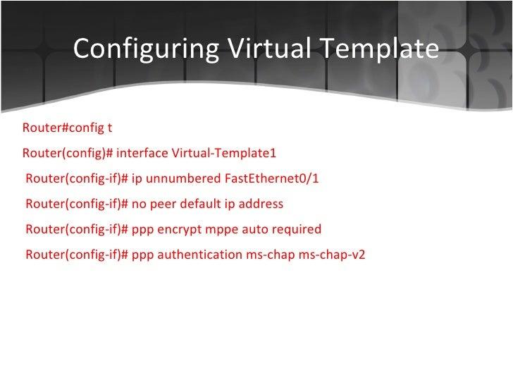 cisco router as a vpn server, Modern powerpoint