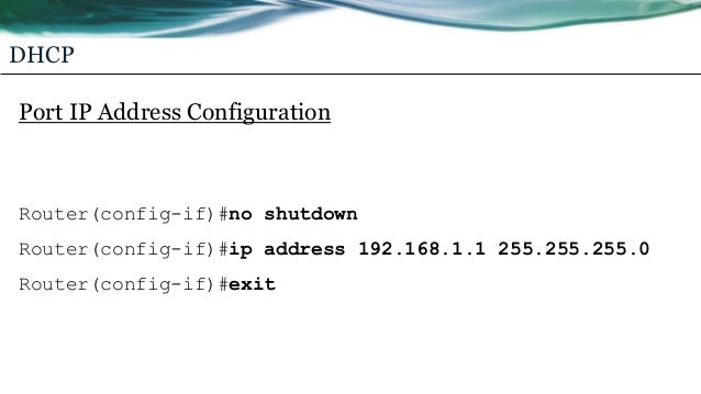 Cisco Router DHCP Config