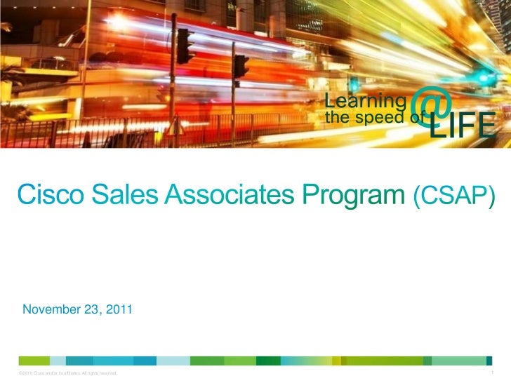 November 23, 2011© 2010 Cisco and/or its affiliates. All rights reserved.   1