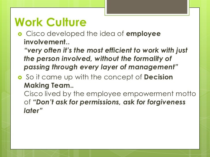 Cisco systems organizational culture