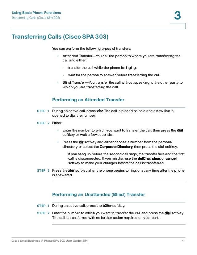 Cisco Blind Transfer