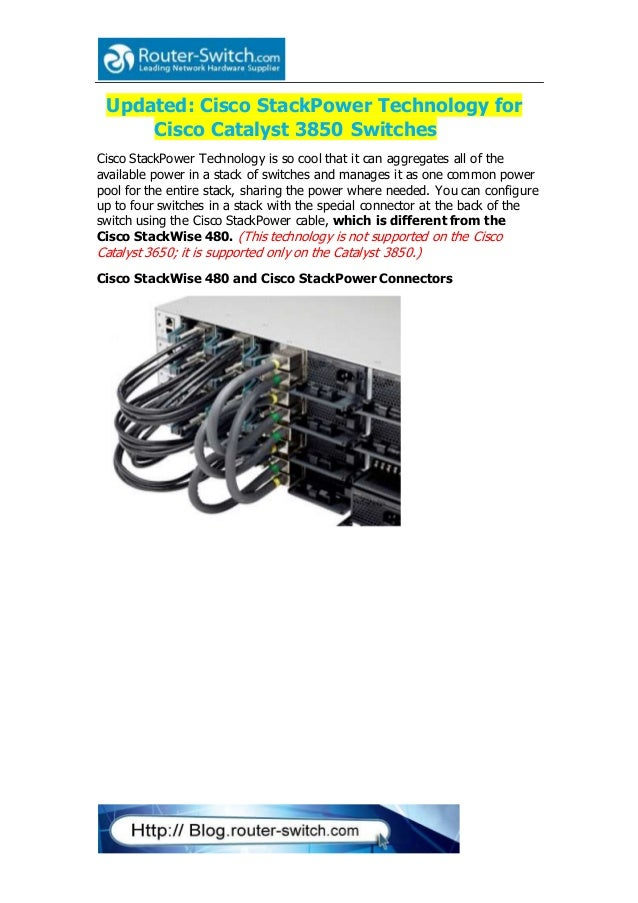 Cisco stack power technology for cisco catalyst 3850 switches