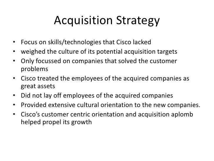 cisco systems new millenium new acquisition strategy This case is about strategy & execution get your cisco systems: new millennium - new acquisition strategy case solution.