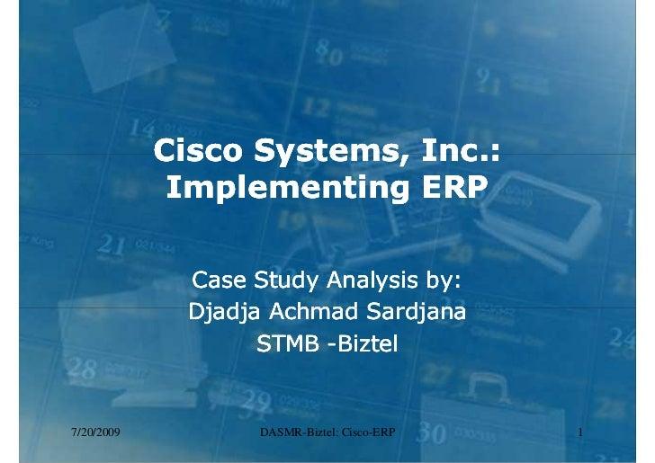erp implementation case study cisco