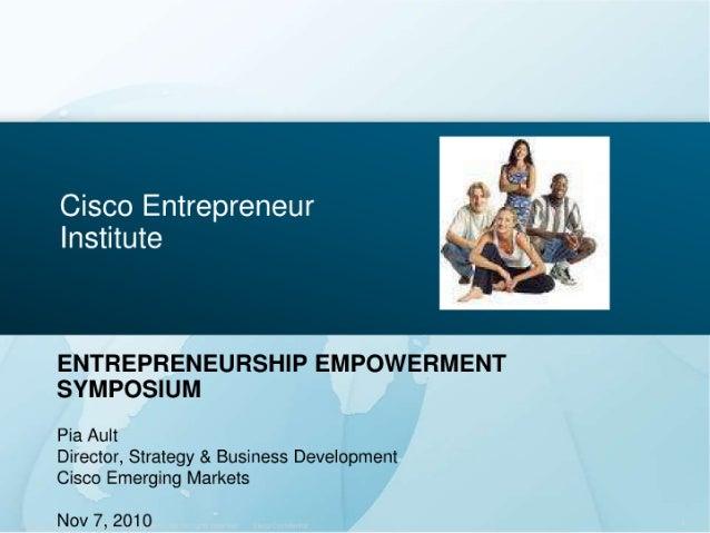 Cisco Systems Inc.- Promoting Small Medium Business Development through the Strategic Use of ICT