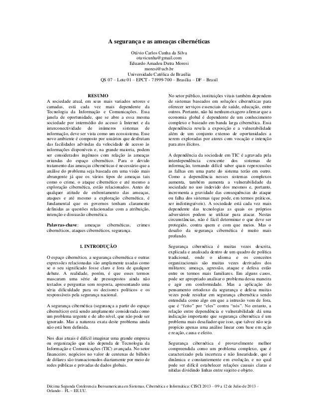 Décima Segunda Conferencia Iberoamericana en Sistemas, Cibernética e Informática: CISCI 2013 – 09 a 12 de Julio de 2013 – ...