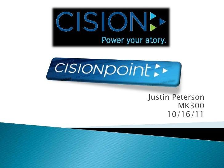 Justin Peterson<br />MK300<br />10/16/11<br />