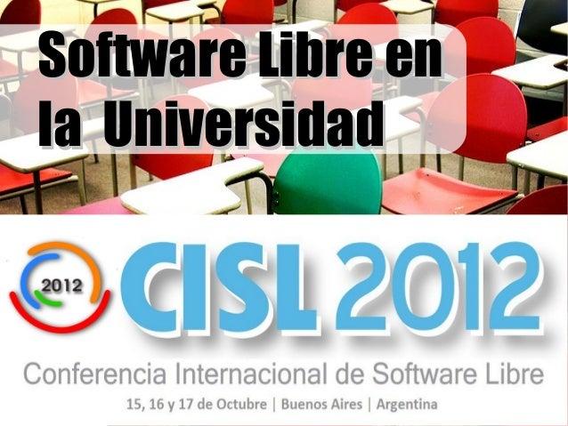 Software Libre enla Universidad