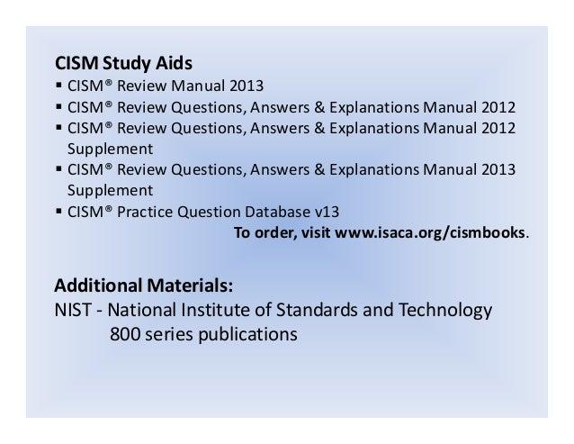 cismprepguide rh slideshare net CISM Certification Exam CISM Cert