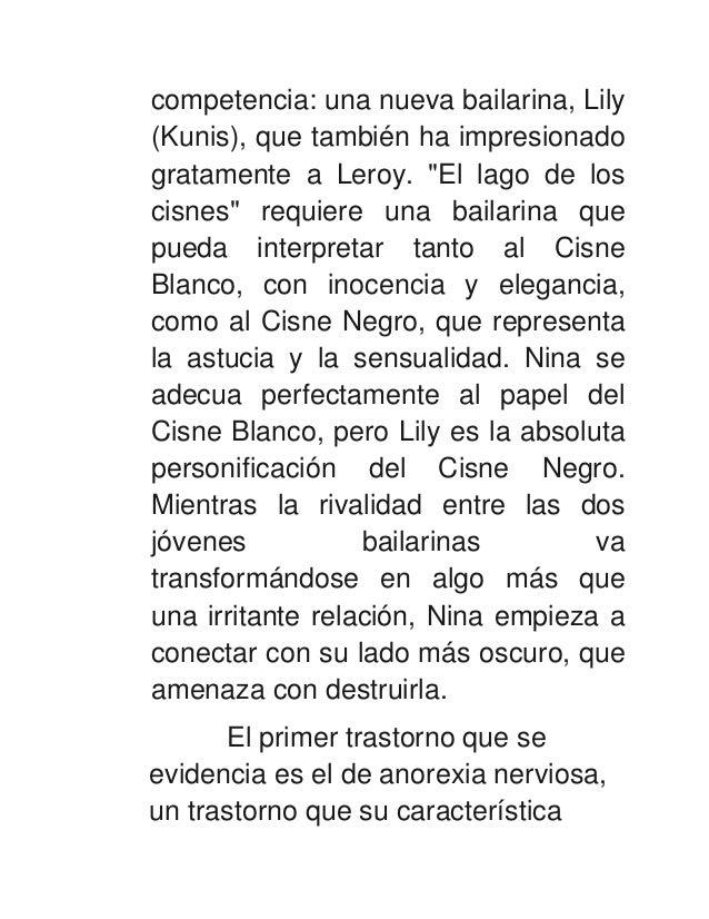 """competencia: una nueva bailarina, Lily(Kunis), que también ha impresionadogratamente a Leroy. """"El lago de loscisnes"""" requi..."""