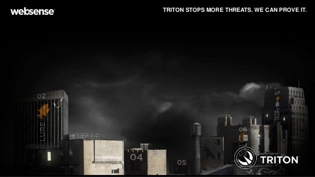 TRITON STOPS MORE THREATS. WE CAN PROVE IT.  © 2013 Websense, Inc.  Page 1