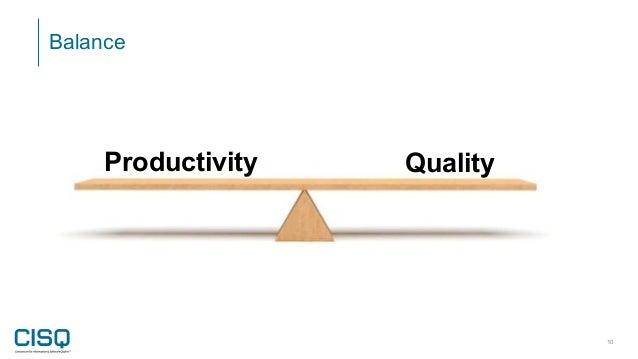 Balance 10 Productivity Quality