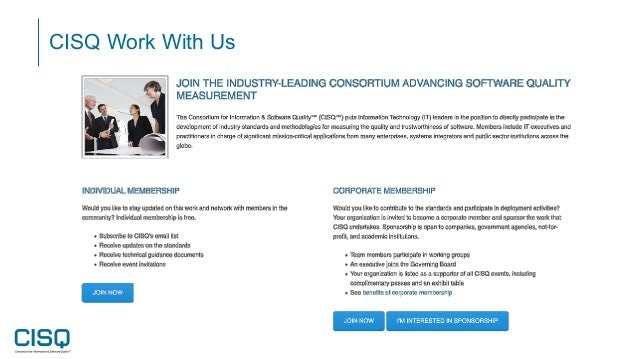 CISQ Work With Us