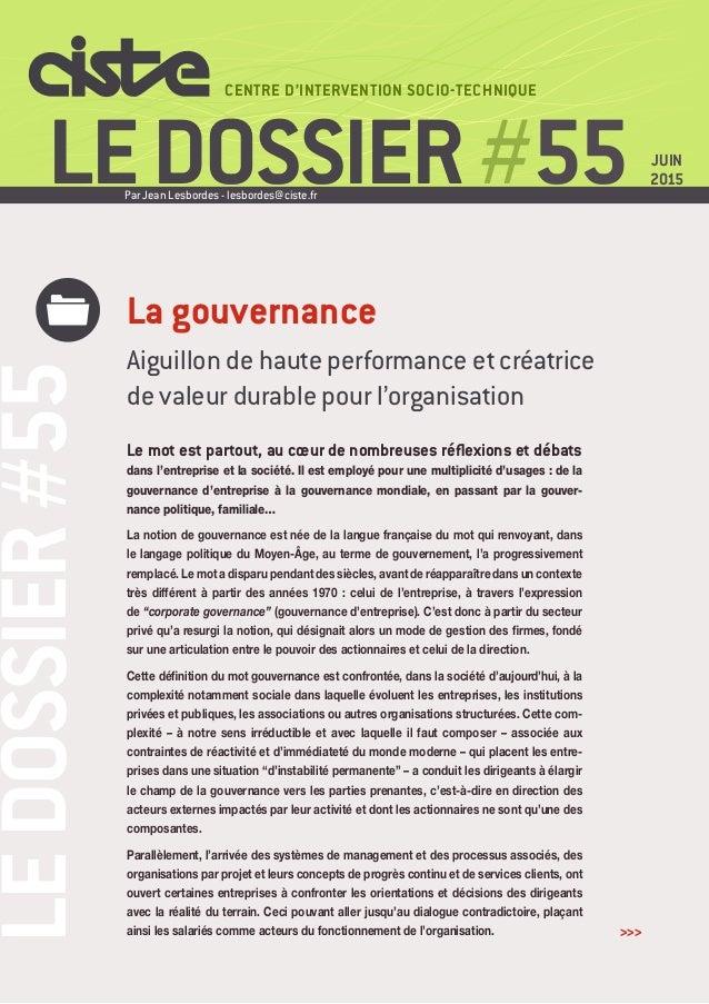 LEDOSSIER#55 LEDOSSIER#55 CENTRE D'INTERVENTION SOCIO-TECHNIQUE Le mot est partout, au cœur de nombreuses réflexions et dé...