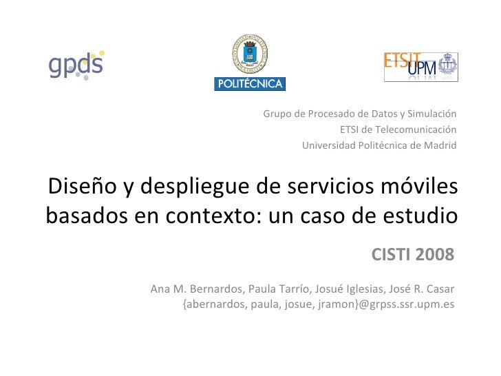 Grupo de Procesado de Datos y Simulación                                               ETSI de Telecomunicación           ...