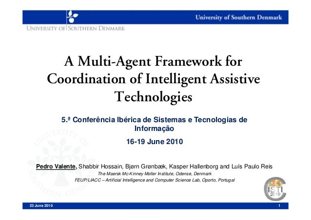 A Multi-Agent Framework for            Multi Agent        Coordination of Intelligent Assistive                           ...