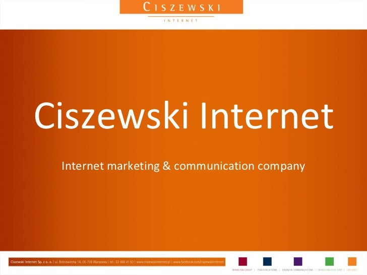 Ciszewski Internet Internet marketing & communication company