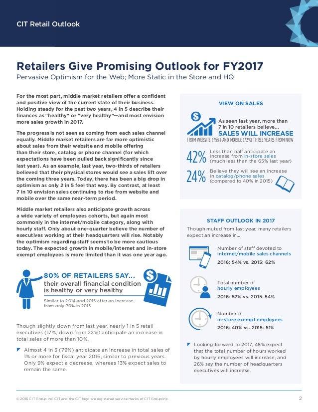 CIT Retail Outlook Slide 2