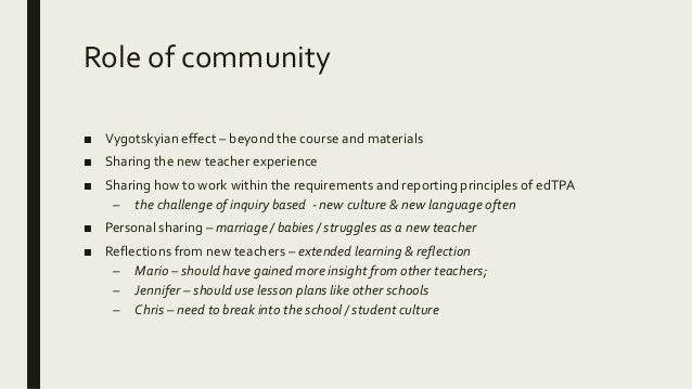 Online interactions & their sense- building and community building ■ Ways that community is shown – Addressing the class d...
