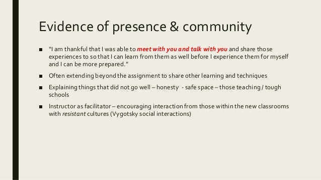Familiarity – and its nurturing and role ■ Type of discussion – from the lit / what they are to serve (community, content,...