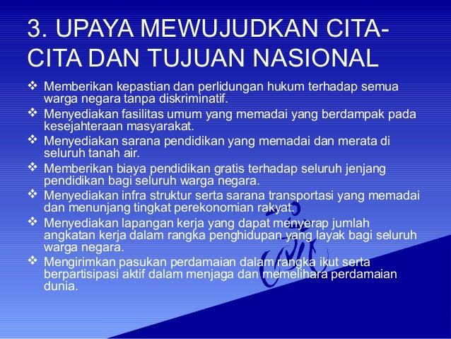 Cita cita dan tujuan nasional berdasarkan pancasila