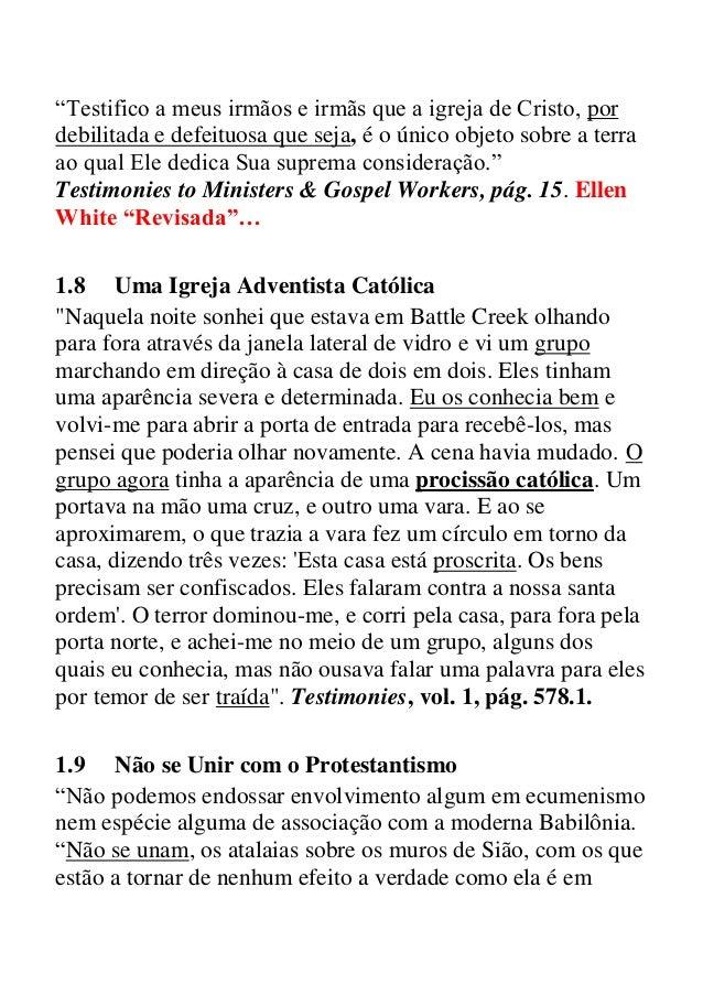 Citações De Ellen G White Que O Seu Pastor Não Faz A Menor Questão Q