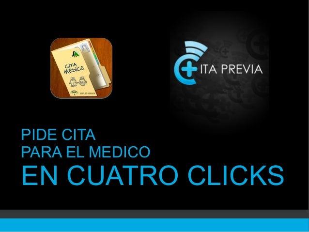 PIDE CITAPARA EL MEDICOEN CUATRO CLICKS