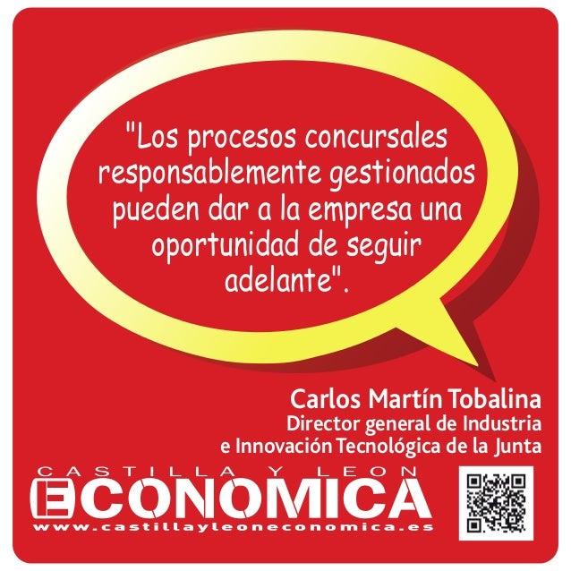 """Carlos Martín Tobalina Director general de Industria e Innovación Tecnológica de la Junta """"Los procesos concursales respon..."""