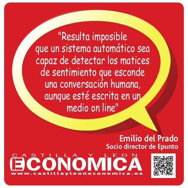 """Emilio del Prado Socio director de Epunto """"Resulta imposible que un sistema automático sea capaz de detectar los matices d..."""