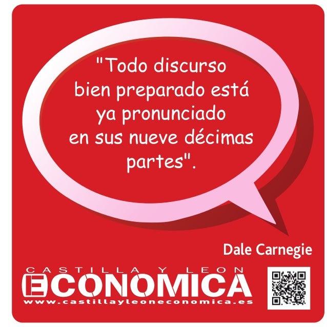"""Dale Carnegie """"Todo discurso bien preparado está ya pronunciado en sus nueve décimas partes""""."""