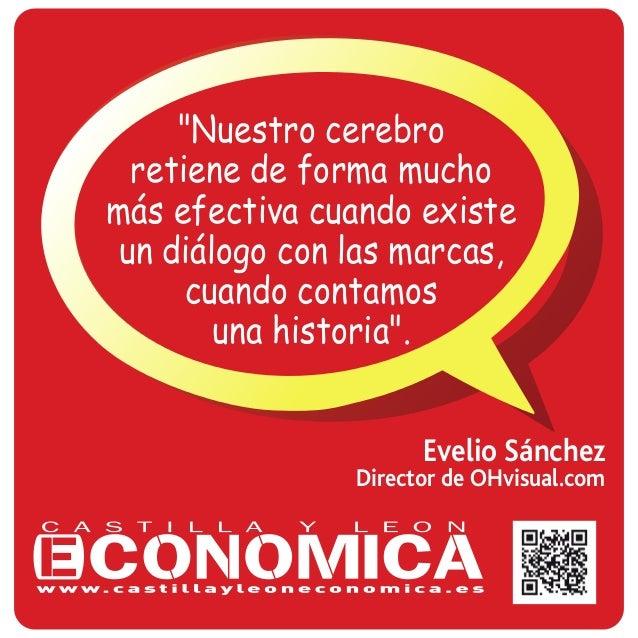 """Evelio Sánchez Director de OHvisual.com """"Nuestro cerebro retiene de forma mucho más efectiva cuando existe un diálogo con ..."""