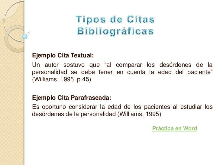 Ejemplos De Referencias Bibliograficas Cortas Cita Previa