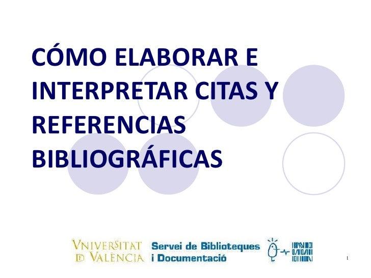 Citas y  referencias bibliograficas